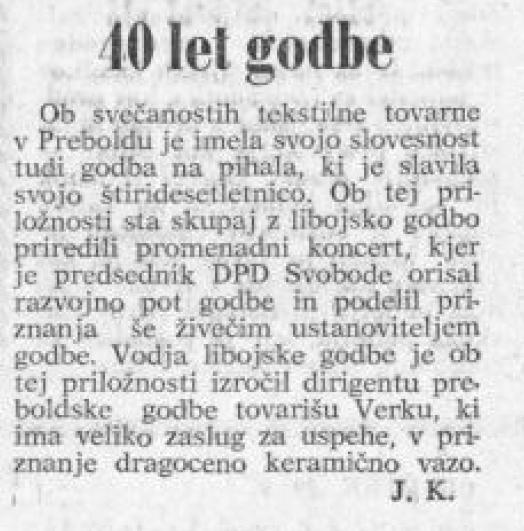 Godba na pihala: Celjski tednik, 23. 9. 1966, št. 37, str. 6
