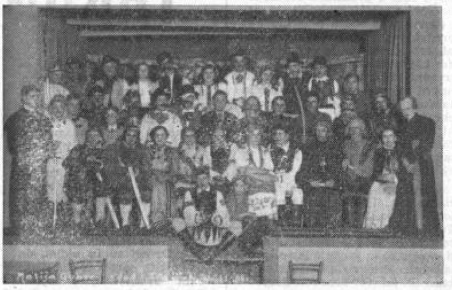 Slika gledališke skupine iz leta 1938: Celjski tednik, 29. 12. 1961, št. 49, str. 6