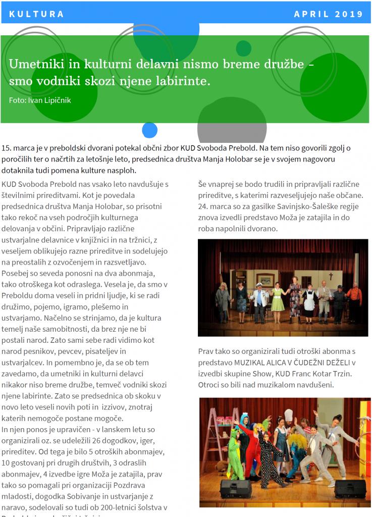 E-glas izpod Žvajge, april 2019, str. 10