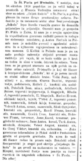 Narodni list, 17. 11. 1910, št. 46, str. 4