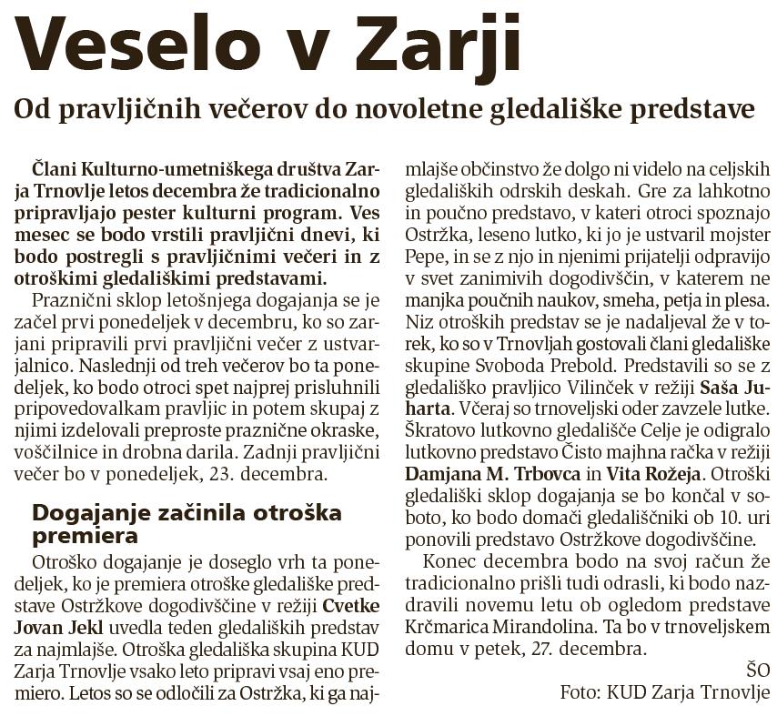 Novi tednik, 12. 12. 2013, št. 52, str. 15