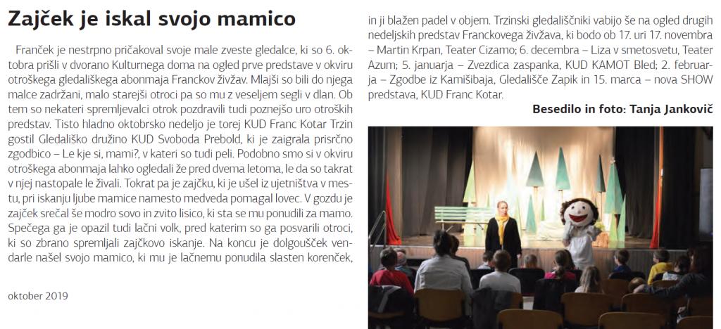Odsev (Glasilo občine Trzin), oktober 2019, št. 8, str. 17