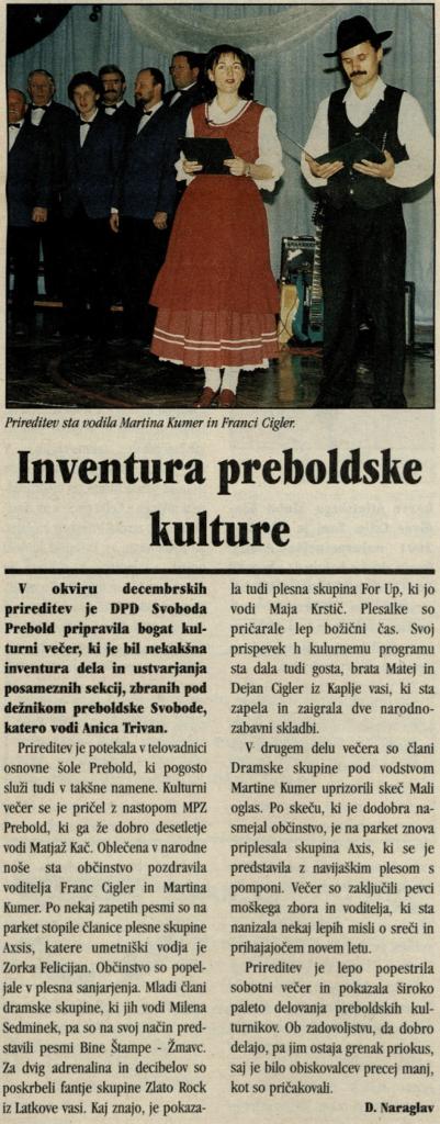 Utrip Savinjske doline, 19. 12. 2001, št. 12, st. 19