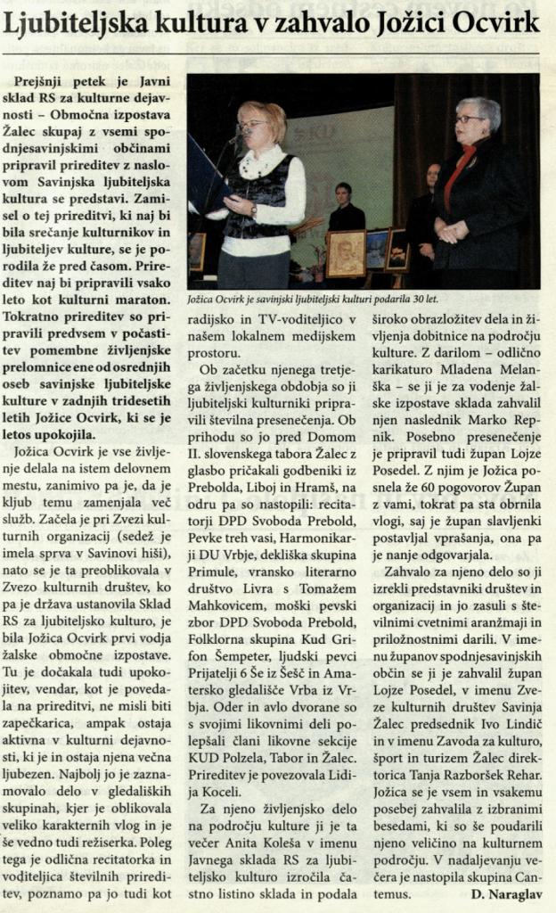 Utrip Savinjske doline, 19. 12. 2007, št. 12, str. 6