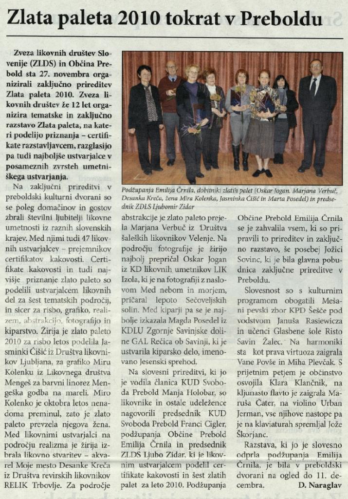 Utrip Savinjske doline, 22. 12. 2010, št. 12, str. 19
