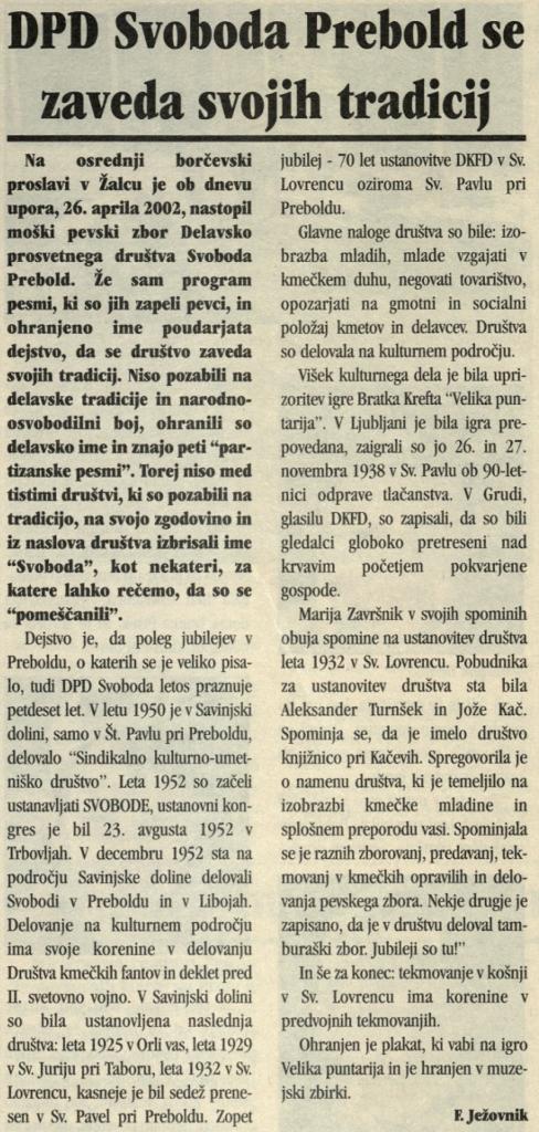 Utrip Savinjske doline, 29. 5. 2002, št. 5, st. 26