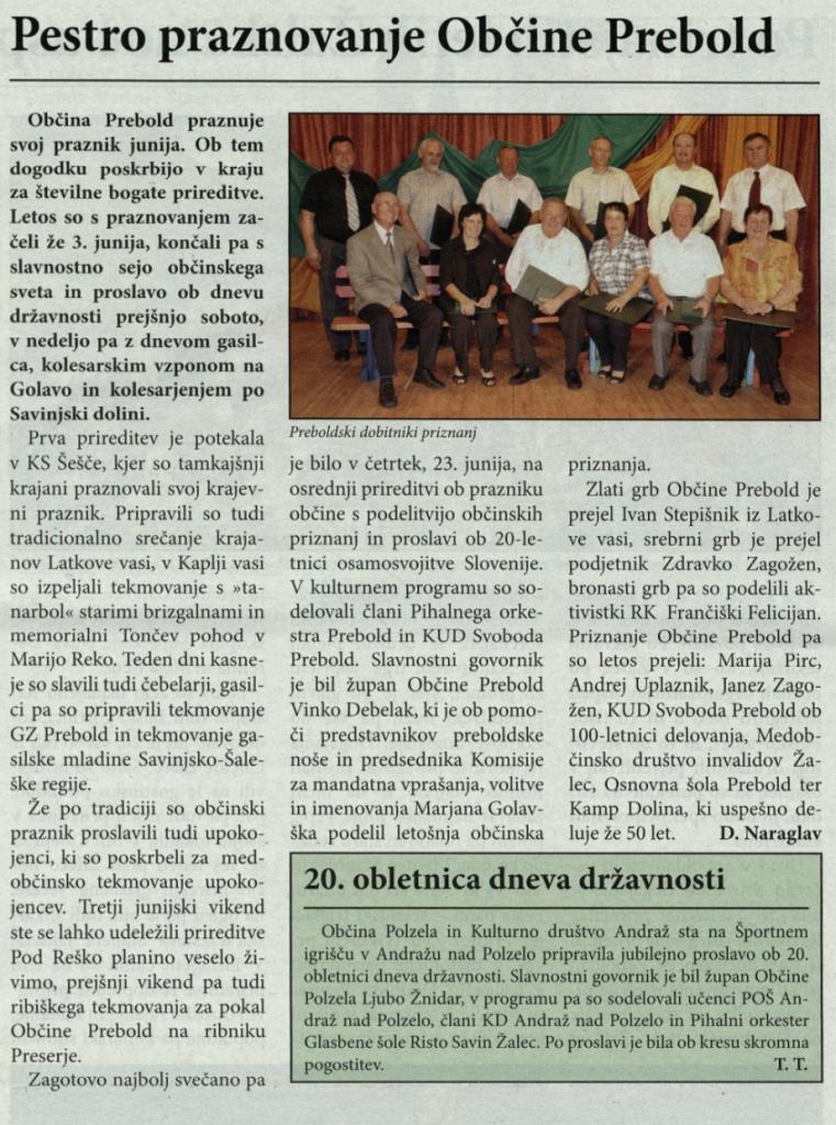 Utrip Savinjske doline, 29. 6. 2011, št. 6, str. 7