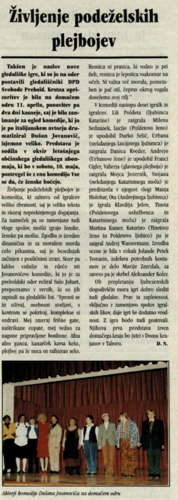 Utrip Savinjske doline, april 2003, st. 19